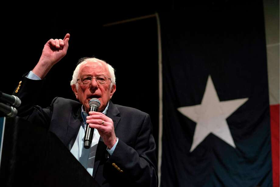 Democratic presidential hopeful Vermont Senator Bernie Sanders gestures as he speaks during a rally at the Abraham Chavez Theater in El Paso, Texas, Feb. 22. Photo: PAUL RATJE /AFP Via Getty Images / AFP or licensors