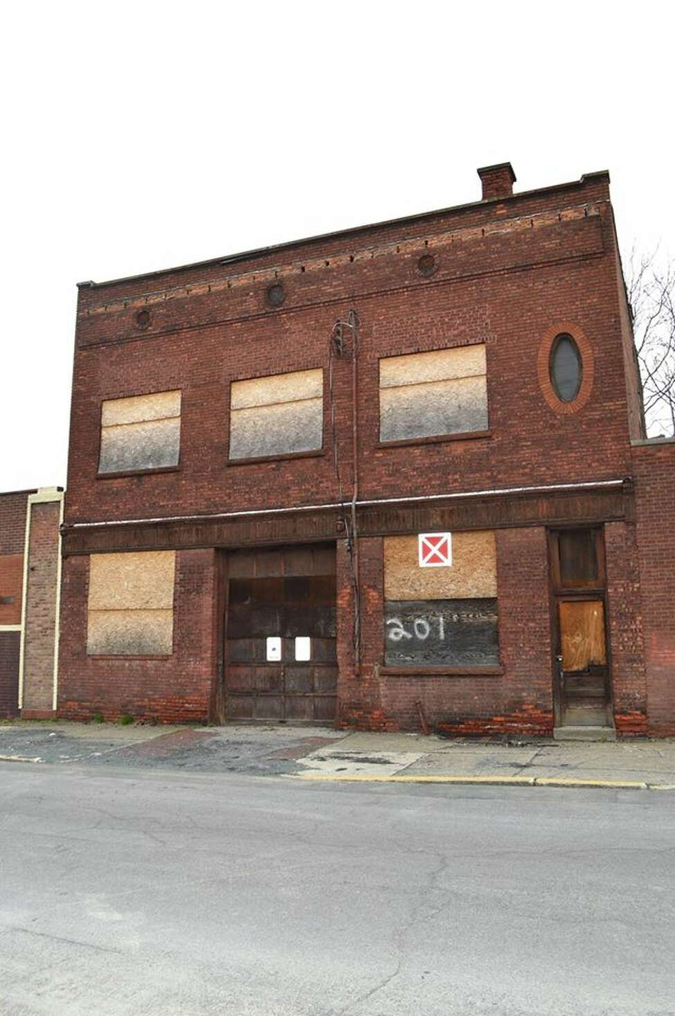 A photo of 201 Elk Street, the Albany County-owned building that was demolished this week after its roof caved in.