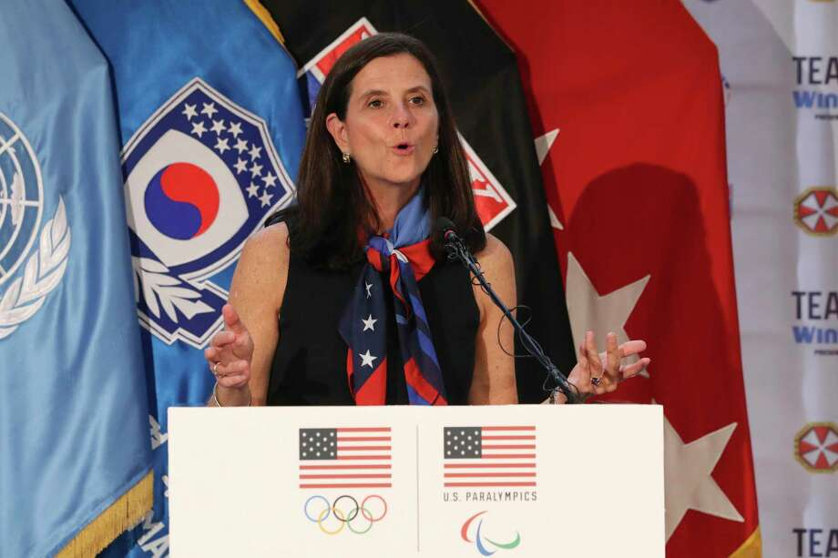 Lisa Baird of Old Greenwich is the new commissioner of the National Women's Soccer League. The former chief of marketing for the U.S. Olympic Committee hopes she can bring the same ideas to soccer as those that ramped up Olympic endorsements. Photo: Lee Jin-man / Associated Press / Copyright 2017 The Associated Press. All rights reserved.