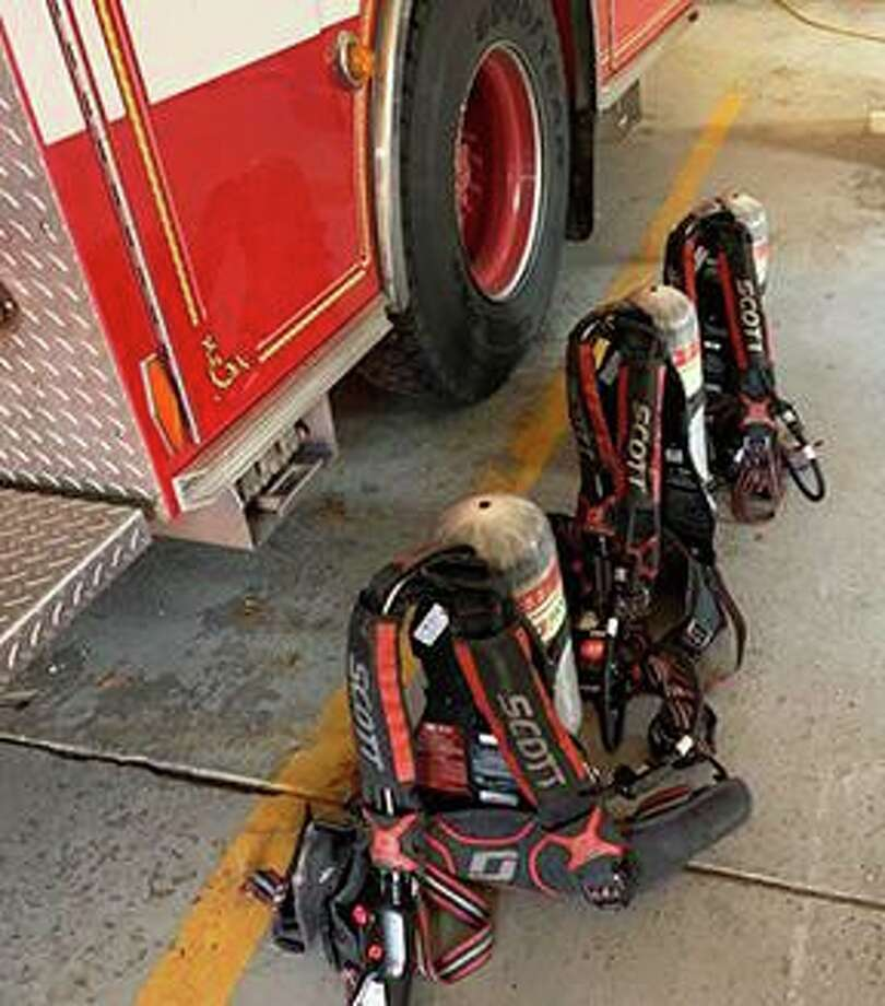 Air packs are ready for annual testing. Photo: Contributed Photo