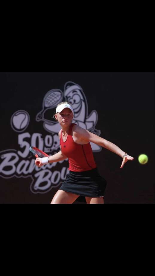 Madison Sieg, a Greenwich resident, has seen her ranking rapidly improve on the ITF Tour, with a number of solid performances at recent tournaments. Photo: Contributed Photo