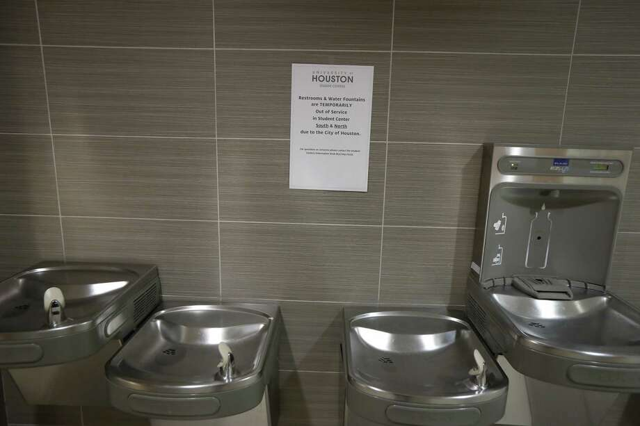 The University of Houston Student Center water fountains were closed due to a water main break Thursday, Feb. 27, 2020, in Houston. Photo: Steve Gonzales, Staff Photographer / © 2020 Houston Chronicle