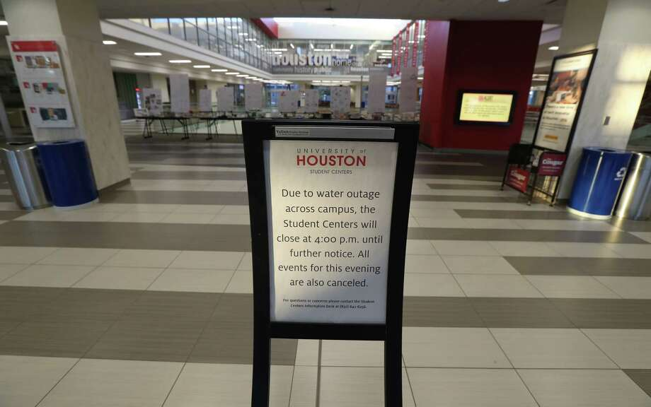 The University of Houston Student Center was closed due to a water main break Thursday, Feb. 27, 2020, in Houston. Photo: Steve Gonzales, Staff Photographer / © 2020 Houston Chronicle