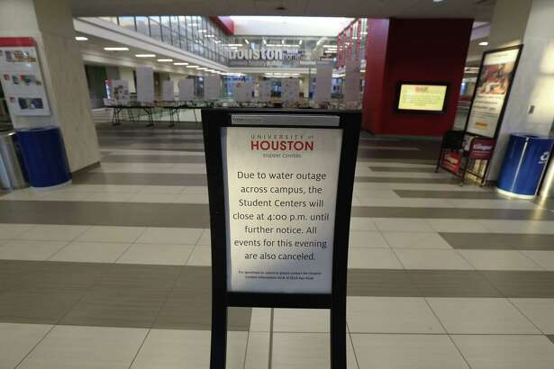 The University of Houston Student Center was closed due to a water main break Thursday, Feb. 27, 2020, in Houston.