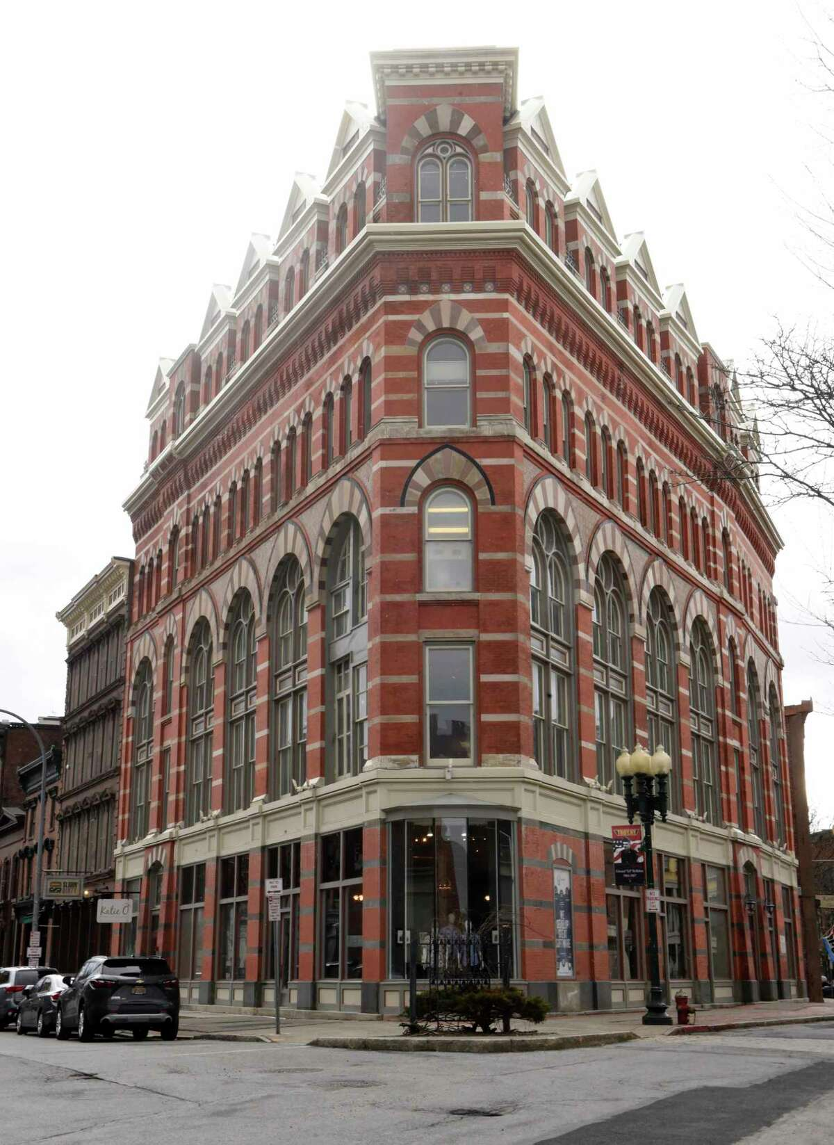 The Rice Building at First and River Streets might be one of the sites for filming The Gilded Age TV show on HBO on Thursday, Feb. 27, 2020 in Troy, N.Y. (Lori Van Buren/Times Union)