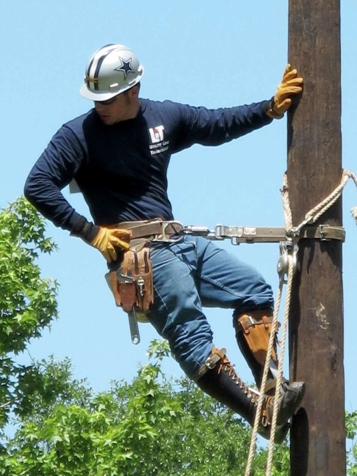 Entergy Texas is donating $50,000 to provide scholarships for students enrolled inn the Utility Line Technology program at Lamar Institute of Technology. Frederick Huff, Utility Superintendent, is a graduate of the LIT program. Photo provided by LIT