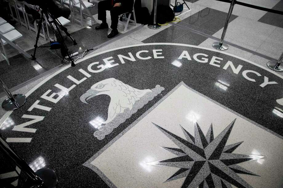 "FILE -- The CIA seal on the floor at the agency's headquarters in Langley, Va., on Jan. 21, 2017. The work culture described by CIA officers on the witness stand during a federal trial in Manhattan more closely resembles comedies like ""The Office"" or ""Silicon Valley"" than spy thrillers like ""Jack Ryan."" (Doug Mills/The New York Times) Photo: DOUG MILLS, STF / NYT / NYTNS"
