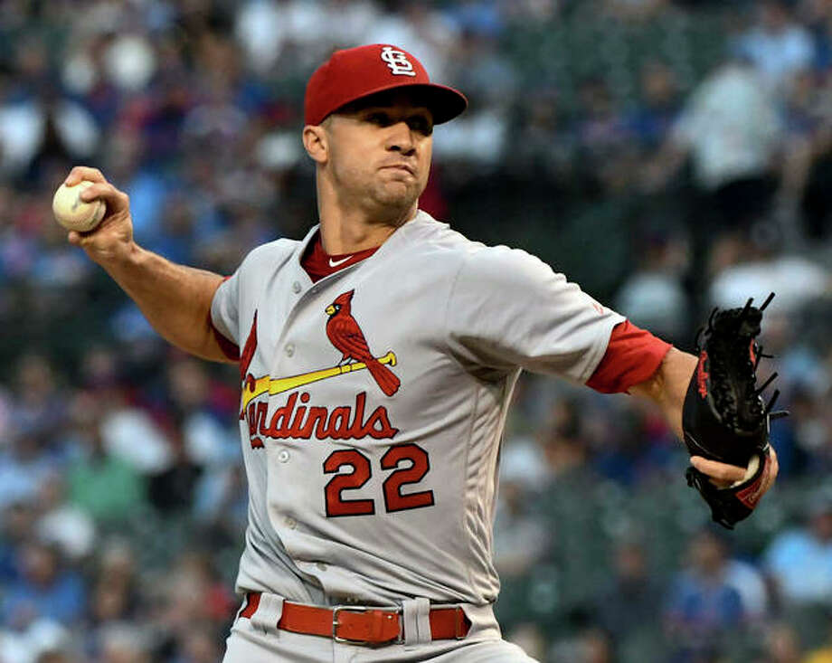 Cardinals pitcher Jack Flaherty has been tabbed as the opening day starter. Above, Flaherty delivers against the Cubs last season. Photo: AP Photo