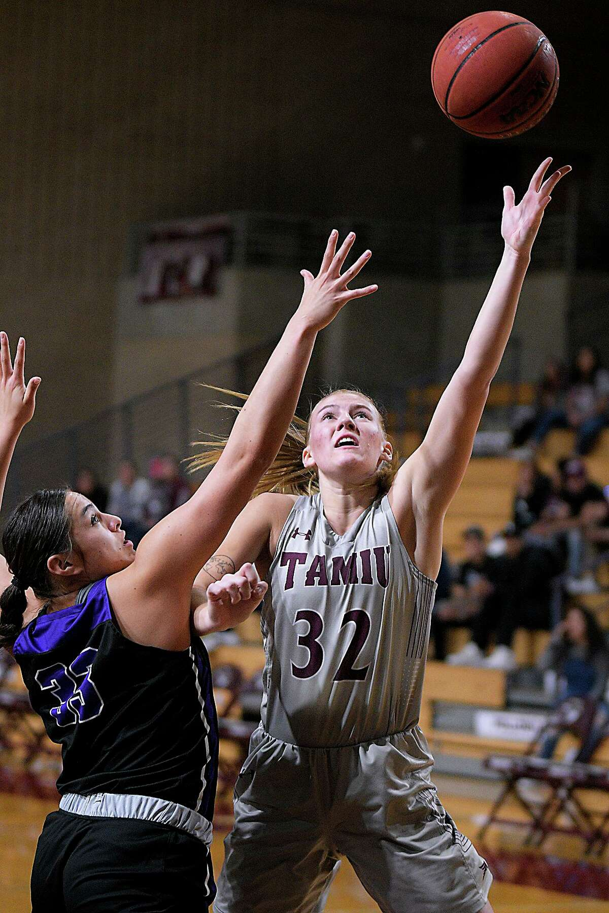 Josselin Geer and TAMIU are hosting Kentucky State University at 5 p.m. Sunday and 1 p.m. Monday.