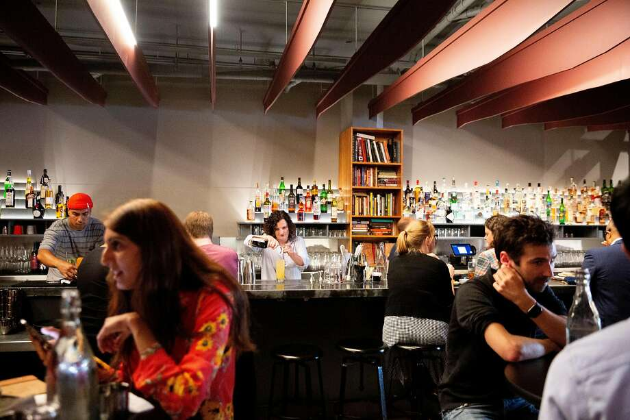 Bar owner Jennifer Colliau makes a Here's How cocktail at Here's How in 2019. The bar closed after years of complaints from its neighbors. Photo: Santiago Mejia / The Chronicle