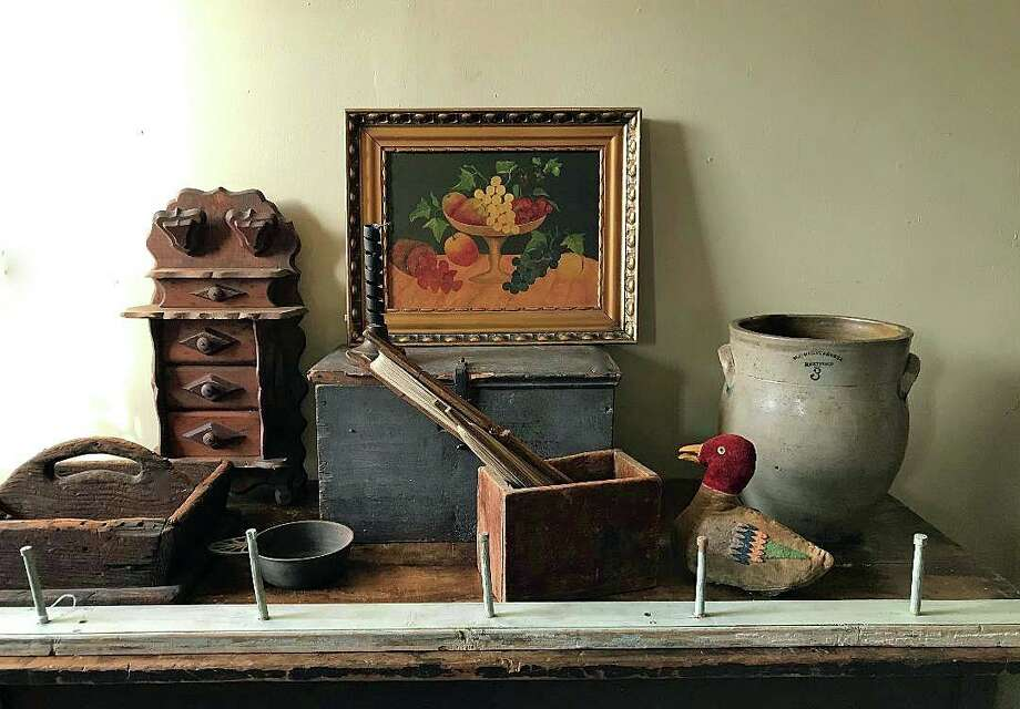 Painting and antiques at the Adam Stanton House in Clinton. Tour the museum to see impressive collection of antiques that were all part of the original house. Photo: Contributed Photo /