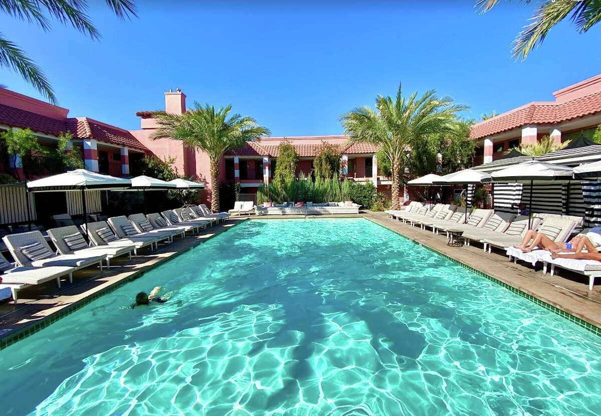 The pool at the visually impressive Sands Hotel in Indian Wells, California