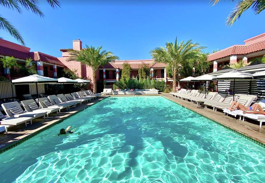 The pool at the visually impressive Sands Hotel in Indian Wells, California Photo: Chris McGinnis