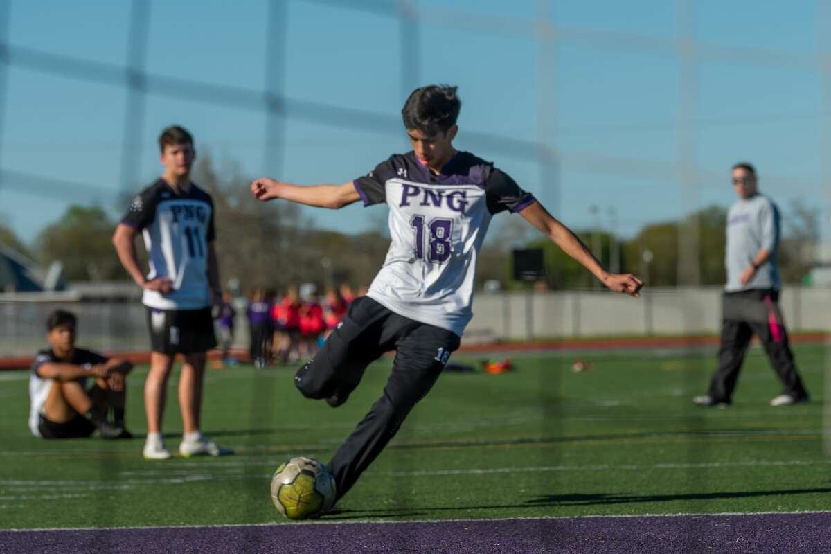 The Port Neches-Groves Indians boys soccer team practices at the school on Thursday, February 27, 2020. Fran Ruchalski/The Enterprise