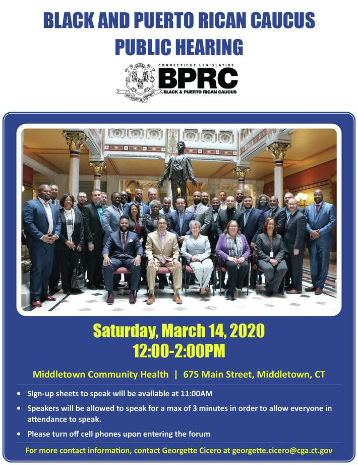 State Rep. Quentin Phipps, D-Middletown, will conduct a public hearing of the Black and Puerto Rican Caucus March 14 from noon to 2 p.m. at the Community Health Center, 675 Main St., Middletown. Photo: Contributed Photo