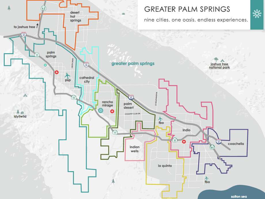 Great Palm Springs consists of 9 cities all connected by a 20-mile stretch of I-10 named for Sonny Bono-- SEE THE SLIDESHOW for more images! Photo: Greater Palm Springs CVB