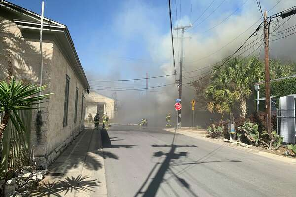 The San Antonio Fire Department responded to a structure fire on the 1500 block of South Flores St.