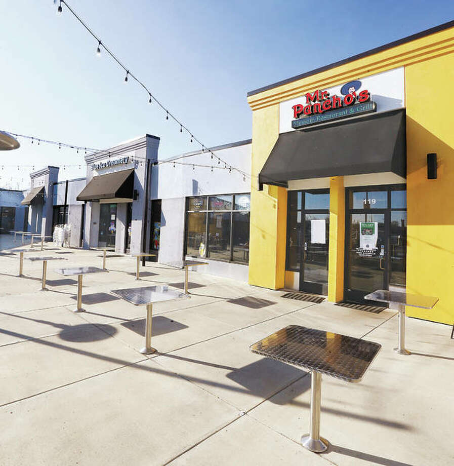 Eastgate Plaza has undergone a massive transformation in the last 18 months, sporting businesses such Blue Ice Creamery, left, and Mr. Pancho's Mexican Restaurant & Grill. Photo: John Badman|The Telegraph