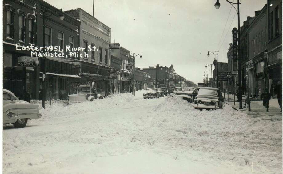 Manistee residents woke up Easter morning in 1951 to find the area filled with snow after a spring blizzard moved through the area.
