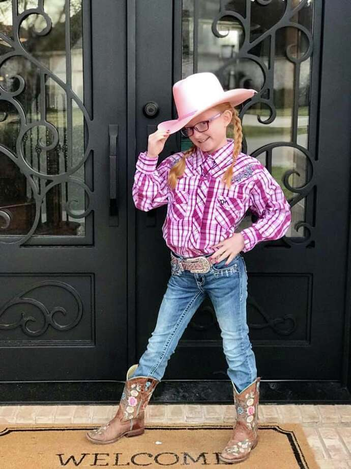 Houston's youngest rodeo fans got in the spirit for Go Texan Day and showcased their rodeo best for the occasion. Photo: Deeanne Canup