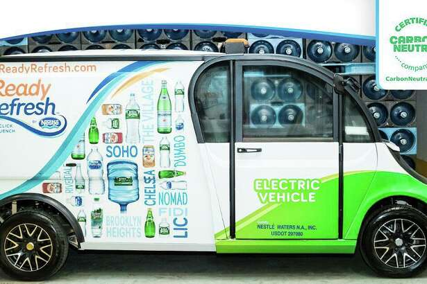 Stamford-based Nestle Waters North America's ReadyRefresh delivery service has earned a certification for carbon neutrality. The business is increasingly using alternative fuel sources, such as electricity, to power its fleet.