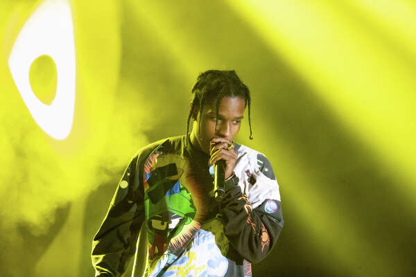 A$AP Rocky performs at the Treasure Island Music Festival on Saturday, Oct. 13, 2018, in Oakland, Calif.