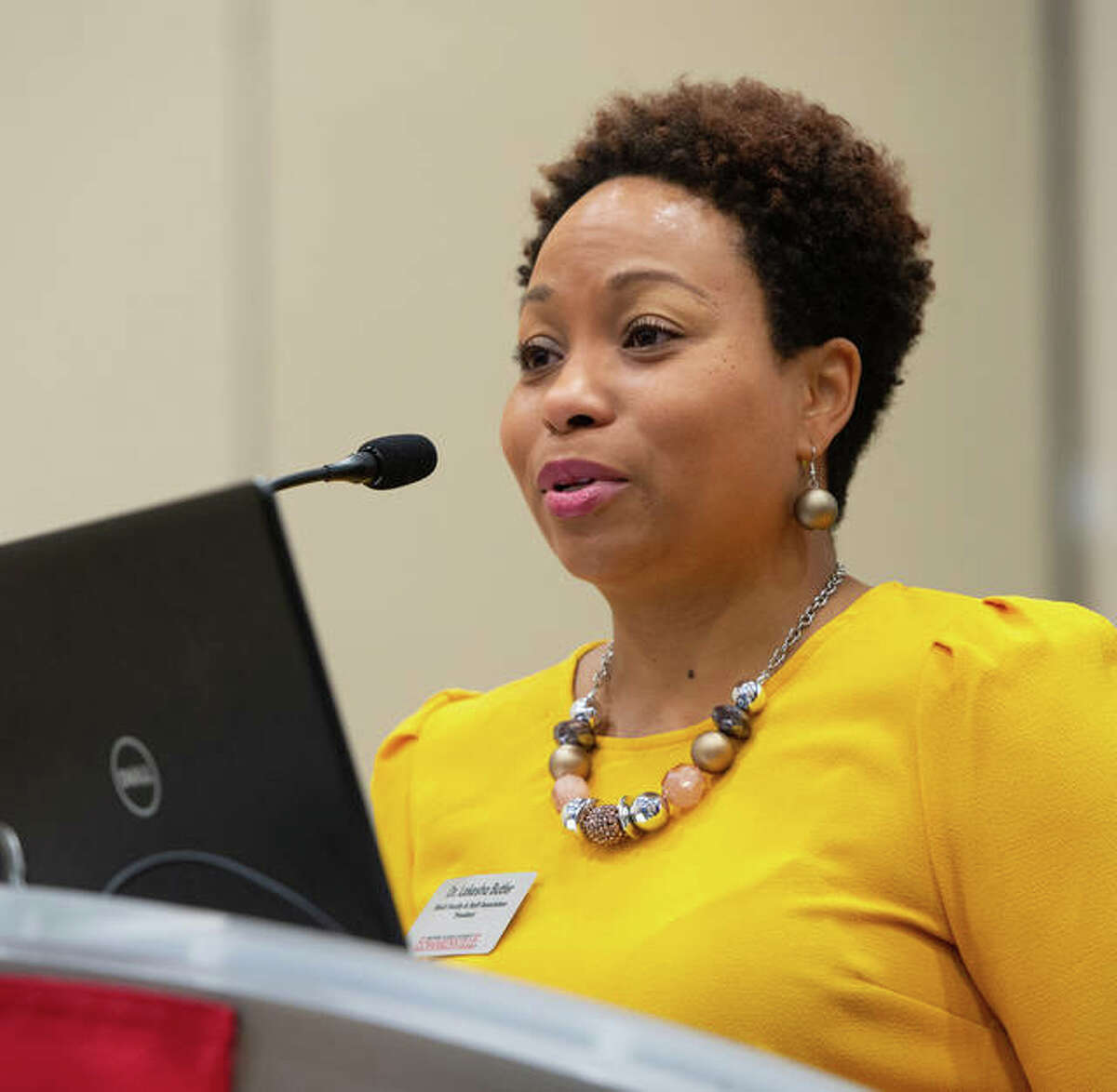 Lakesha Butler, presenting at the State of the Black Union event.