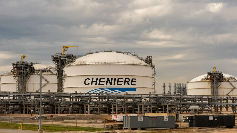 Cheniere Energy storage tanks. Photo: Fran Ruchalski/The Enterprise