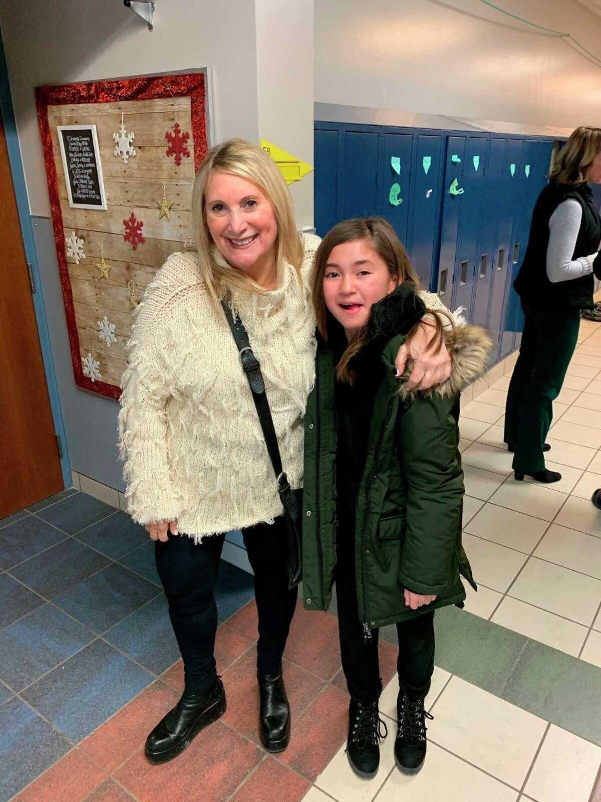 Sherry Sparks with Laker Elementary student Leila Stone (Courtesy Photo)