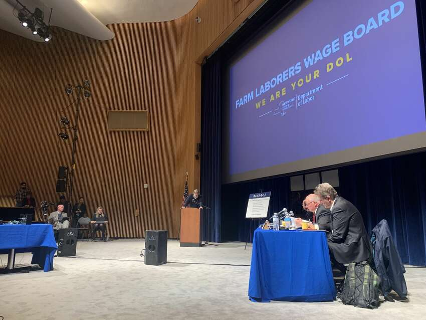 A cadre of local farmers testified at a Department of Labor wage board hearing on Friday, Feb. 28, 2020, urging the board not to make additional changes to a new law that sets a 60-hour threshold for farm workers to receive overtime pay.
