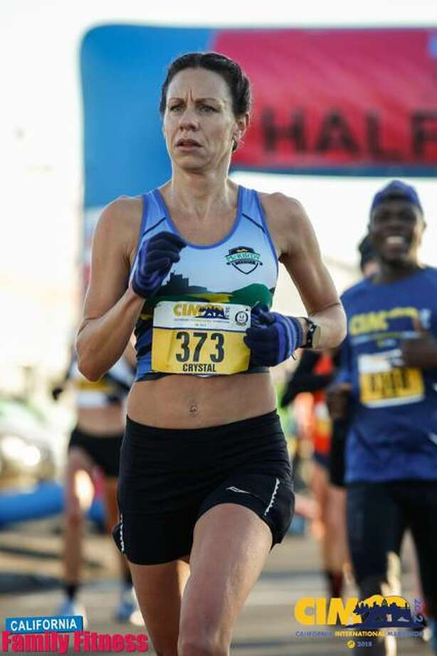 Edwardsville resident Crystal Harriss runs in the California International Marathon on Dec. 2, 2018. Harris posted a time of 2:44.49 and qualified for the U.S. Olympic Marathon Trials, scheduled for Saturday in Atlanta. Photo: For The Intelligencer