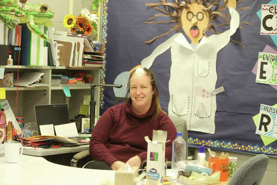 Pictured is Megan O'Hara-Langer. She teaches science and social studies at Brookside Elementary School.