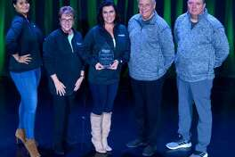 Superior Products of South Roxana was named Supplier of the Year by O'Reilly Auto Parts at its leadership conference Jan. 23-25 in Dallas. From left are Blu Bolden, Donna Docter, Jillene Docter-Gedmin, Glenn Docter and Jimmy Golenor.
