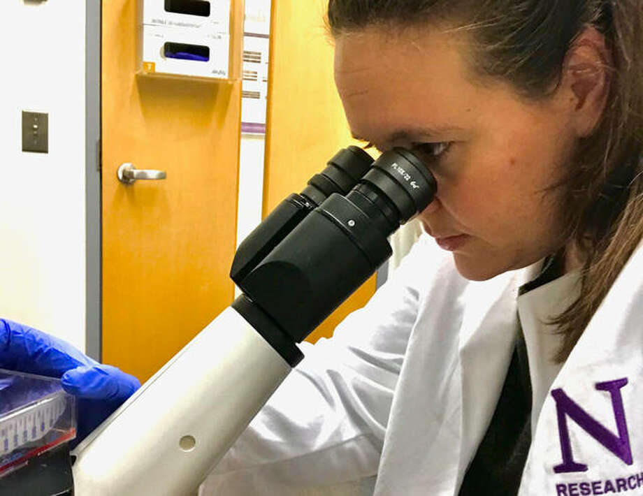 Dr. Deanna Tiek, a graduate of Zion Lutheran School in Bethalto, is currently doing a post-doctoral fellowship with Dr. Shi-Yuan Cheng at Northwestern University working on therapeutic targets for drug-resistant brain cancers. She also works with homeless programs in Chicago.