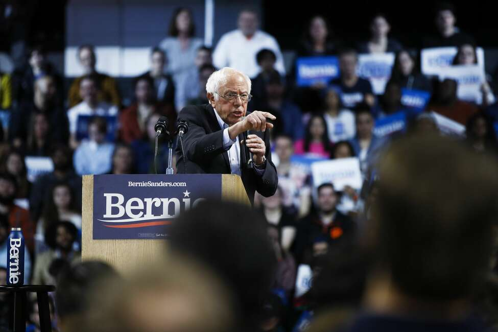 Democratic presidential candidate Sen. Bernie Sanders, I-Vt., speaks during a campaign event, Thursday, Feb. 27, 2020, in Spartanburg, S.C. (AP Photo/Matt Rourke)