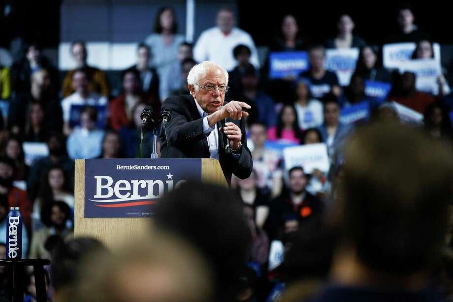 Sen. Bernie Sanders Photo: Matt Rourke / Associated Press / Copyright 2020 The Associated Press. All rights reserved.