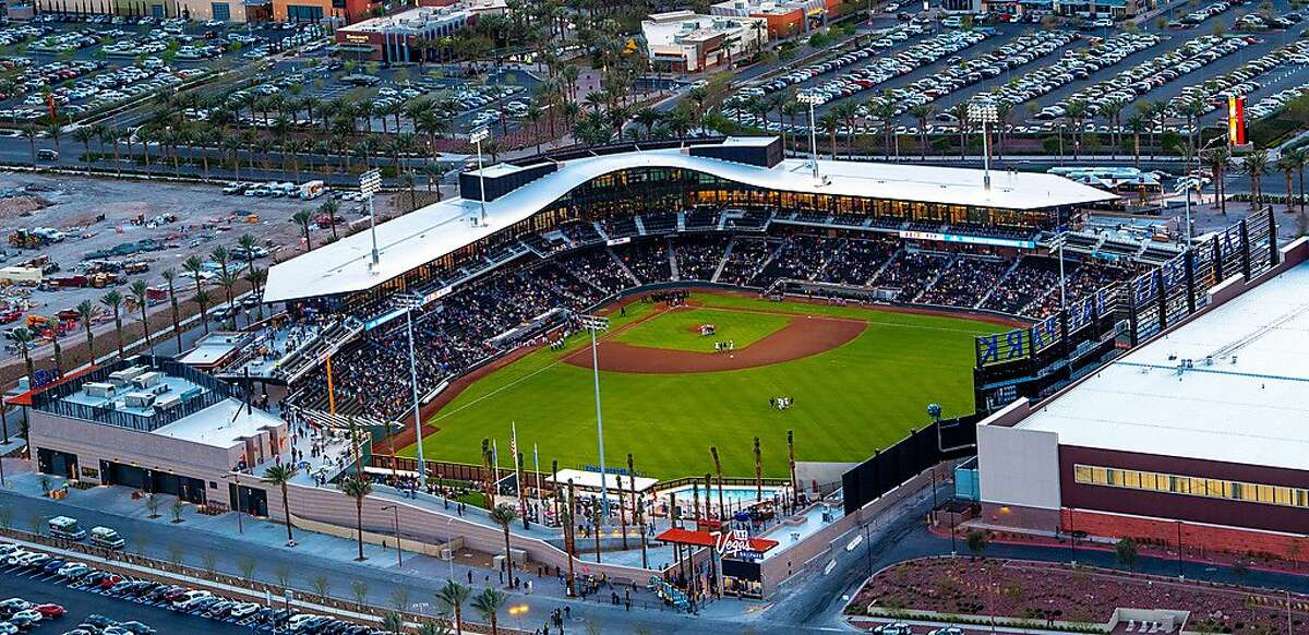 The new Las Vegas Ballpark is home to the A's Triple-A Aviators and will host the A's and Indians this weekend.