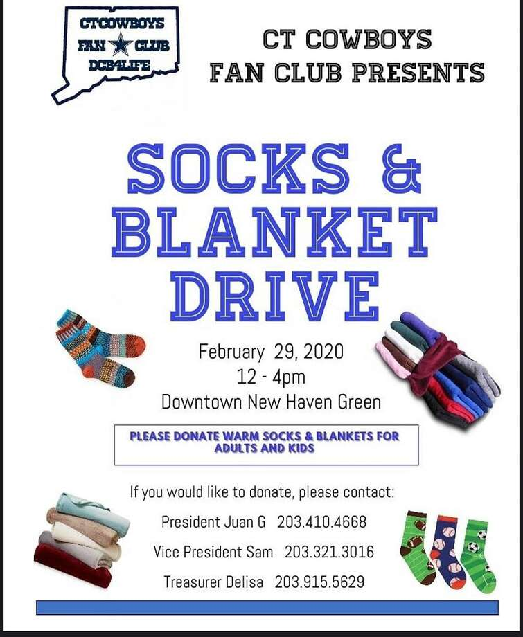 A socks and blanket drive will be held on the New Haven Green Photo: Contributed