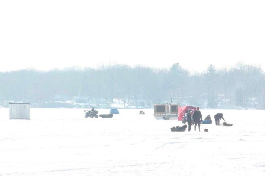 Most area lakes are having plenty of ice. (Pioneer photo/John Raffel)
