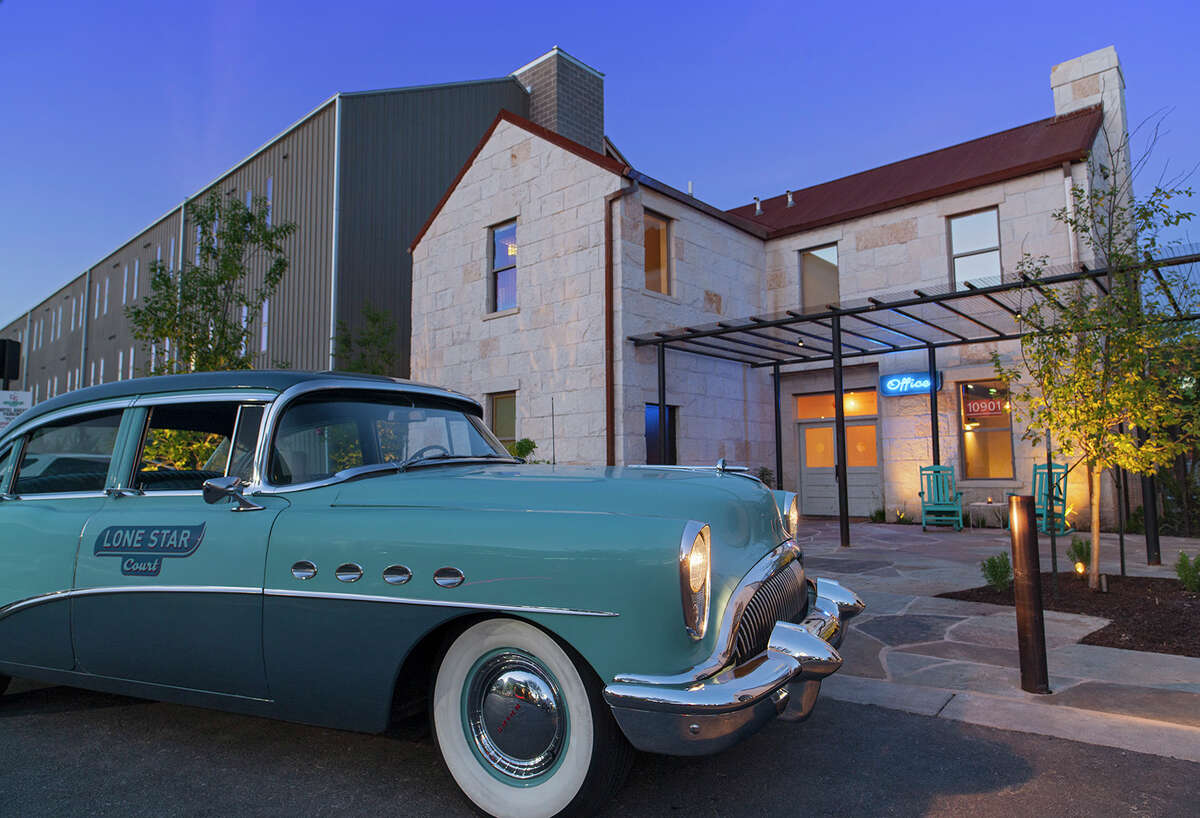 """The hotel is tied together by the """"retro-ranch"""" theme. With 123 spacious rooms and a relaxing courtyard, Lone Star Court provides a modern take on the retr0-inspired motor court concept."""