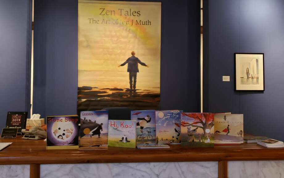 Zen Tales: The Art of Jon J Muth will be on display at the Abraham Art Gallery through April 18. Photo: Courtesy Photo/Hannah Wells/WBU