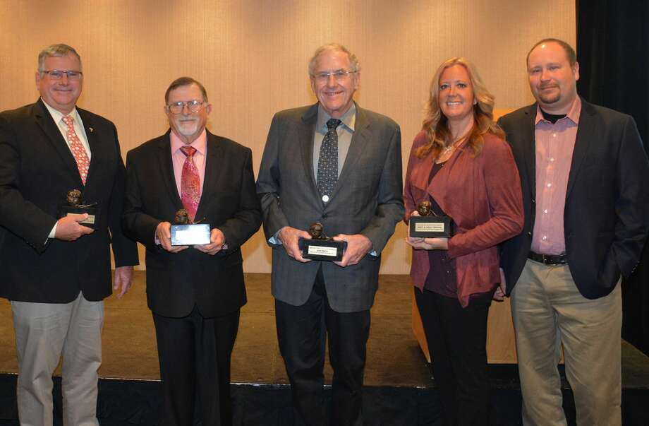 2020 High Cotton Winners, from left, are cotton producers: Greg Wuertz, Coolidge, Ariz.; Larry Ford, Greenwood, Fla.; Dan Smith, Lockney, Texas; and Matt/Kelly Griggs, Humboldt, Tennessee. Photo: Courtesy Photo/National Cotton Council