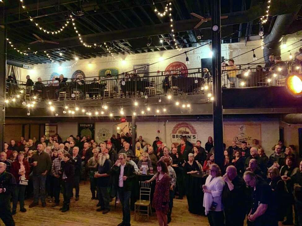 The crowd at last year's Dustin Mele Memorial Concert at Brown's Revolution Hall (image from facebook.com/DustinMeleMemorial)