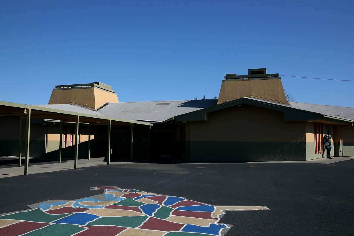 The roof at Lake Elementary School, located at 2700 11th St., is in need of repair in San Pablo, Calif., on Thursday, February 6, 2020. Prop. 13 would authorize a $15 billion bond for school facilities.