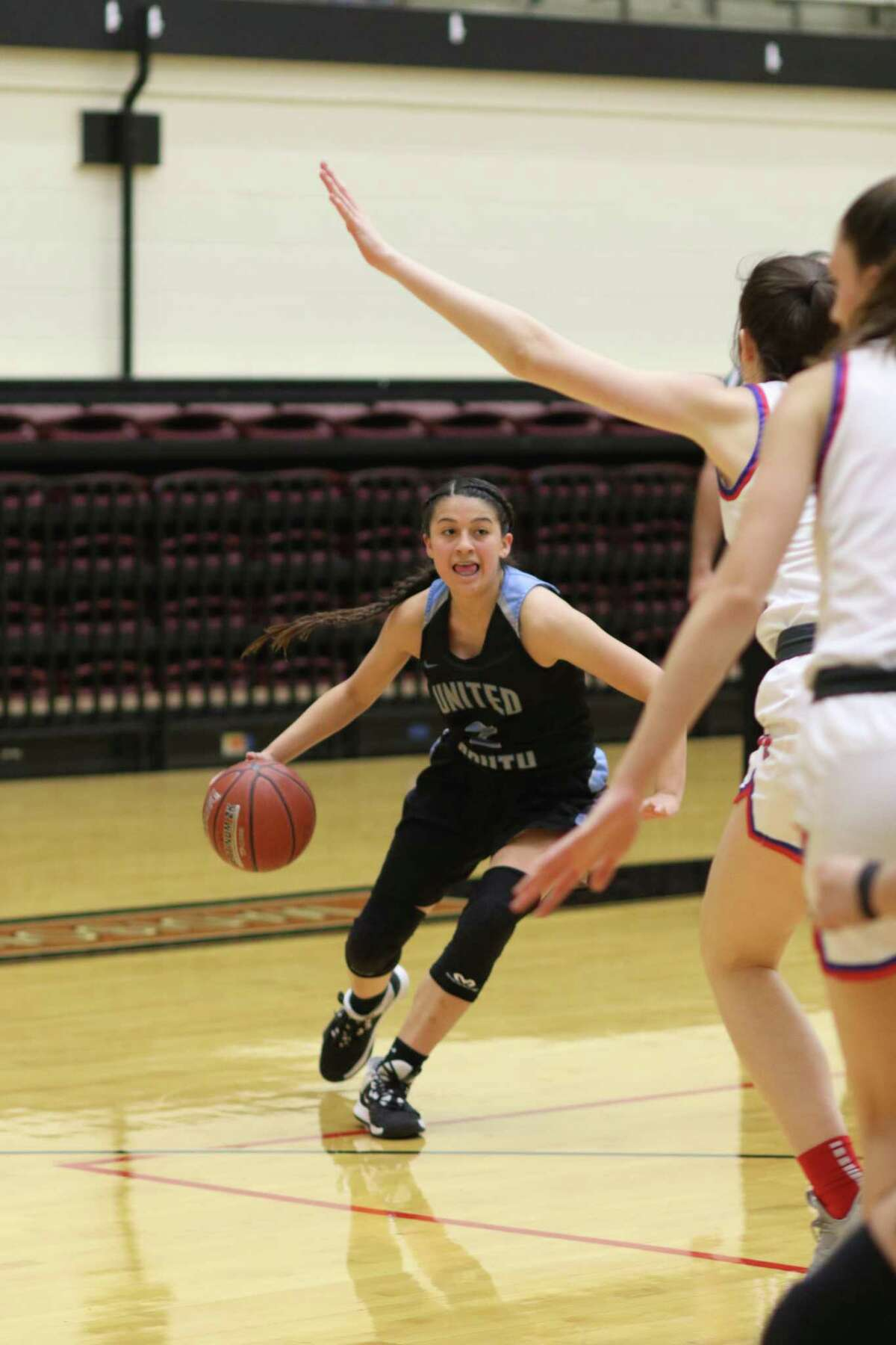 Angelina Lopez and United South were eliminated in the Sweet 16 Friday with a 53-29 loss to No. 6 Austin Westlake at the Blossom Athletic Center in San Antonio.