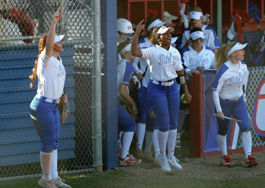 FILE PHOTO — Oak Ridge players react after Kennedy Reynolds' solo home run in the sixth inning of a non-district high school softball game at Oak Ridge High School, Thursday, Feb. 27, 2020, in Oak Ridge. Photo: Jason Fochtman, Houston Chronicle / Staff Photographer / Houston Chronicle © 2020