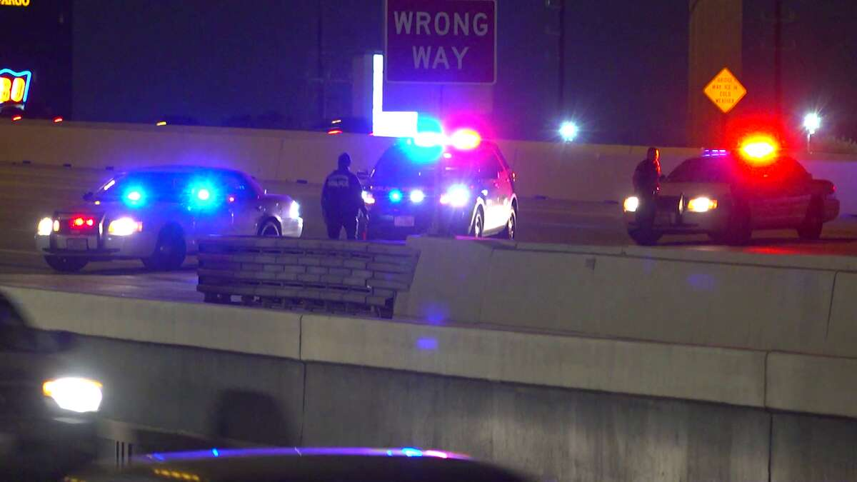 Two people are dead after a truck driving the wrong way on US-290 slammed into another car, HPD investigators say.