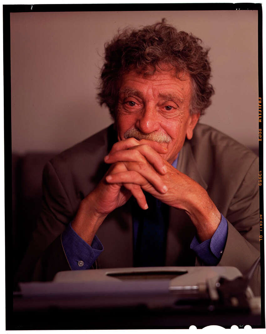 FILE -- Kurt Vonnegut on Sept. 22, 1997. Six years after the author's death, playwright Nicky Silver has adjusted Vonnegut's script for the play