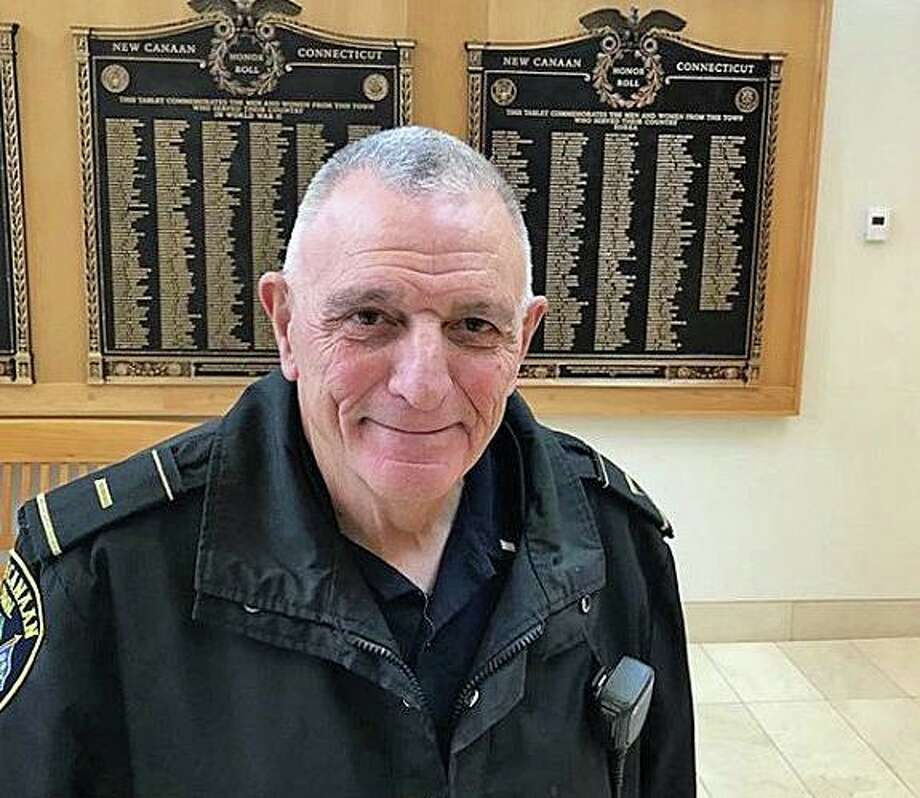 Lt. William Ferri retired on Saturday, Feb. 29, 2020, after 52 years and four months with the New Canaan Police Department. Photo: Contributed Photo / New Canaan Police Department