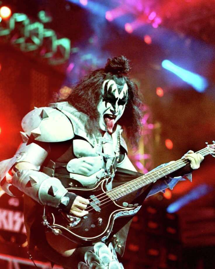 Gene Simmons of the rock band Kiss is shown performing during their farewell tour in Phoenix, Saturday, March 11, 2000. (AP Photo/State Press, Michael Todd) Photo: MICHAEL TODD / STATE PRESS